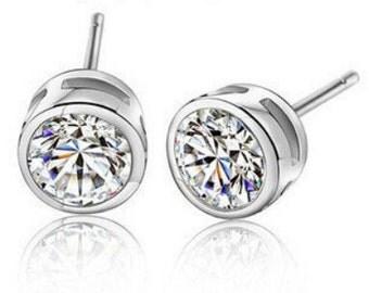 Bezel IOBI Crystals Earrings