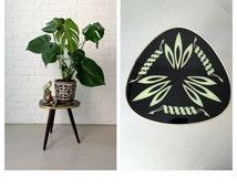 Vintage flower stool, coffee table 50, mosaic table, Rockabilly, vintage flower Bank stool, stool, mid century interior, flower Bank
