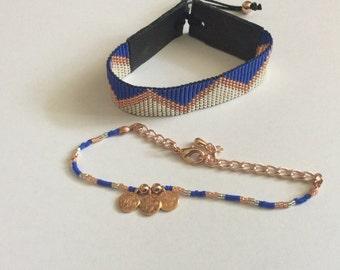Miyuki delica bracelets set in wooden box