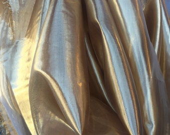 "60"" w GOLD liquid lamé Fabric by the yard"