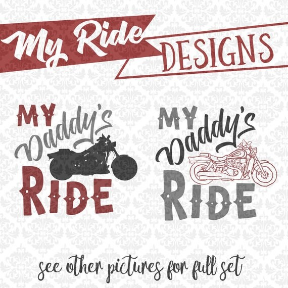 My Ride Bike Motorcycle Biker Dad Grandpa Future SVG DXF STUDIO ai eps png scalable vector instant download commercial use cricut silhouette