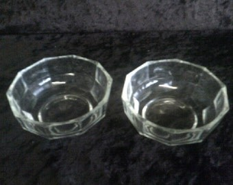 Italian Crystal Glass Bowls / Coupes