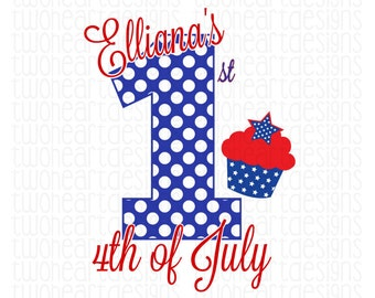 4th Of July Personalized Iron On - Digital Download - You Print
