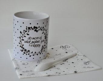 "Mug ""do more of what make you happy"""