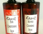 No POO, shampoo free hair nourishing and restoring cleaning system No Poo cleansing balm and conditioning system 100% plant derived 500ml