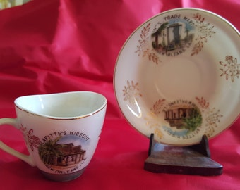 Vintage  New Orleans Louisiana Souvenir Cup and Saucer