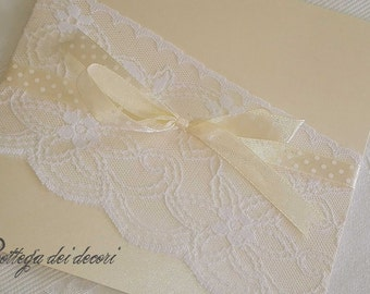 participation with lace, handmade and customizable