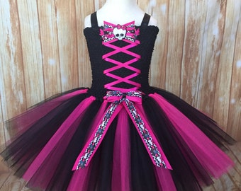 Monster High Draculaura Costume Tutu Dress. Draculaura MH Tutu. Draculaura Dress.