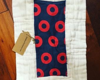 Phish Burp cloth, Fishman Donut  Burp Cloth,  Prefold Diaper