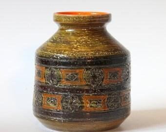 Vintage Bitossi Italian Art Pottery Carta Fiorentina Vase Raymor Netter