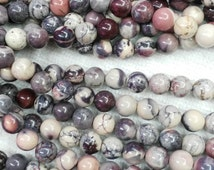 2strands 6 8 10 12mm  Assortment Natural Jasper stone Round Ball purple Zebra brown grey black loose bead