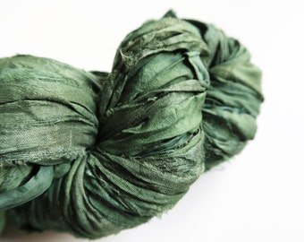 Wickedly Witchy - 100G, Sari Silk Ribbon, Eco Friendly, Ethically Produced, Recycled Craft Yarn
