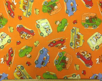 Busytown On the Move Richard Scarry RARE OOP Car Toss Orange Yardage, #45503-O VIP Exclusive