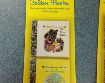 Little Little Golden Books Unopened #22 & #24 The Three Bears - Jack and the Beanstalk