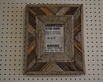 5 X 7 Fancy BarnWood Picture Frame