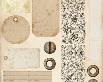 Vintage Journal Papercrafter Papers