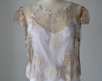 Top cocktail, married multicolor lace blouse