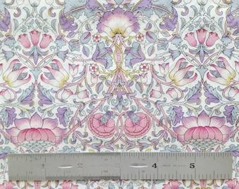 "Liberty London Lodden F 10""x26"" Fat Eighth Pink Purple Tana Lawn Fabric"