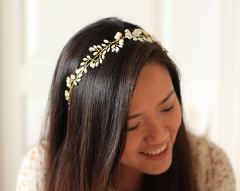 Bridal Headband - Cherry Blossom Vine Headband - # 12