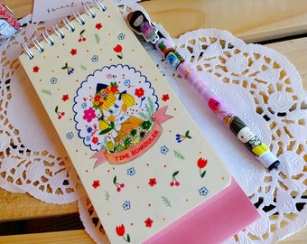 7321 KAWAII Cute Daily  Scheduler Notepad/ 1 PC