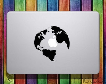 "World Map Macbook Sticker Decal 11"" 12"" 13"" 15"" - laptop stickers, macbook stickers, macbook decals, macbook sticker, macbook pro stickers"