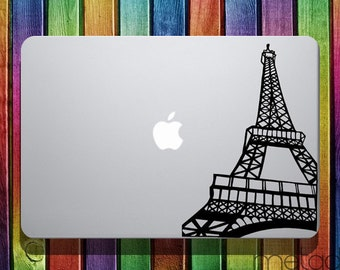 """Paris Eiffel Tower Macbook Sticker Decal Sticker for 13"""" 15"""" 17"""" Macbook laptop stickers, macbook stickers, macbook decals, macbook sticker"""