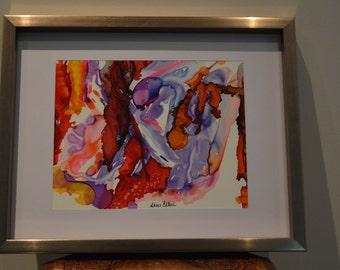 Interpretation: Abstract Watercolour and Alcohol Ink Art
