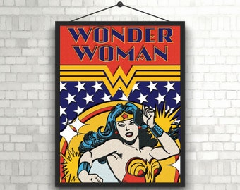 Wonder Woman Vintage Illustration