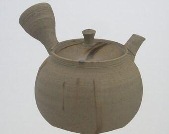 Premium Japanese Pottery Kyusu Teapot : KATSUAKI TANIKAWA - 210cc Ceramic net
