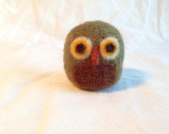 Needle Felted Owl Bird