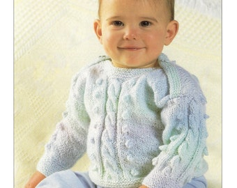 baby boys girls sweaters jumpers dk knitting pattern 99p pdf