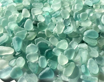 Tiny sea glass blue sea glass bulk blue beach glass bulk wedding memento jewelry making aquarium aqua teal seafoam sea glass small