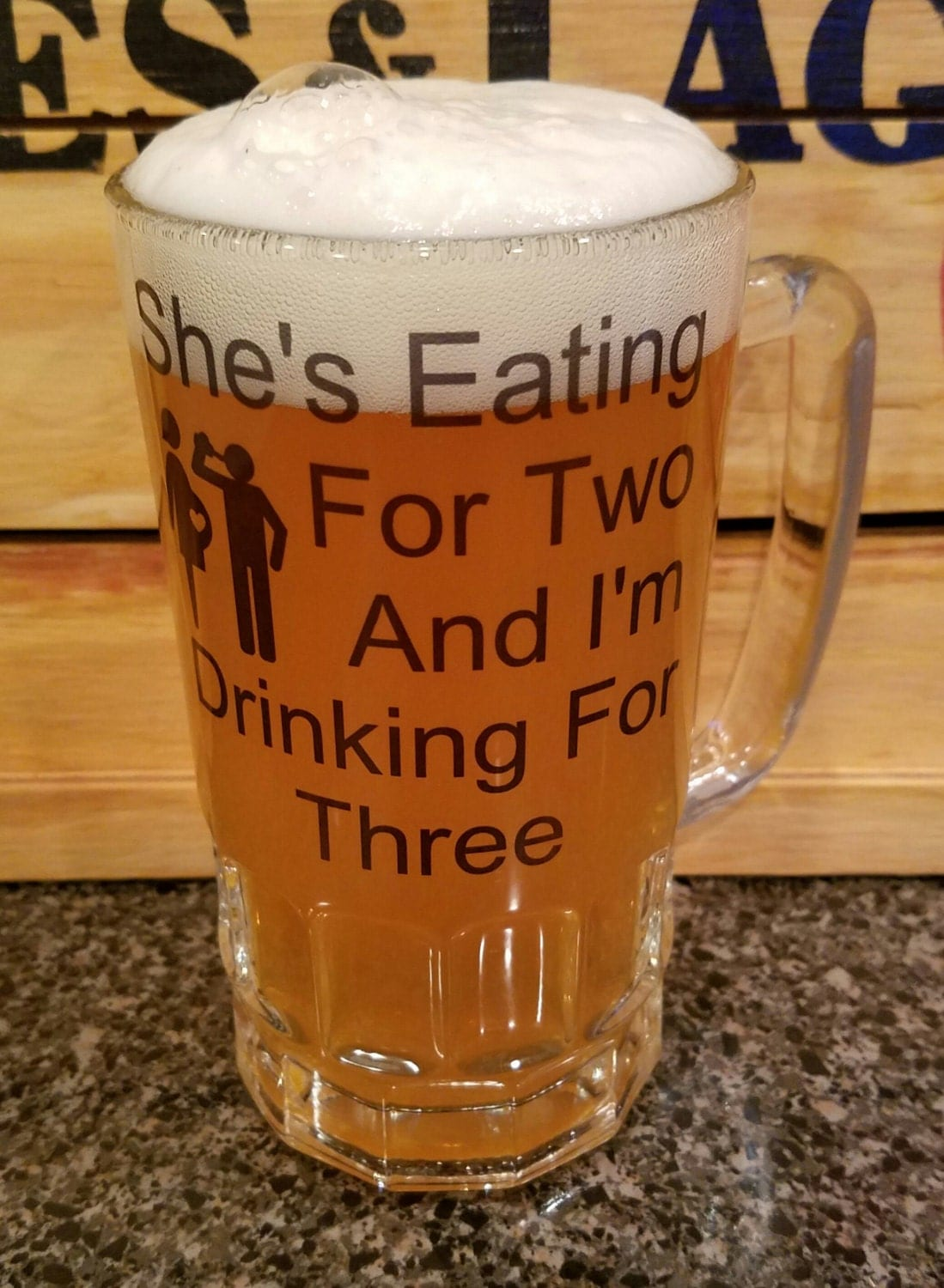 Dad Beer Stein   Gift For Dad   Baby Shower Gift   Baby Gift   Baby Dad Mug