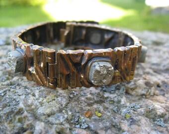 Penti SARPANEVA Finland Modernist Bronze and pyrite  Bracelet