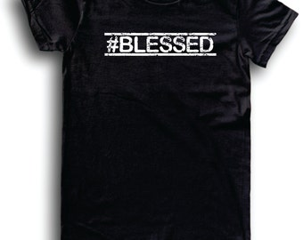 Womens American Apparel #Blessed cute religious prayer funny tee shirt clothes clothing