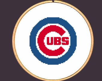 Chicago Cubs Cross Stitch Pattern: Needlepoint Embroidery Chicago Baseball Counted Request Custom Buy Two Patterns Get a one FREE