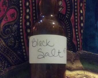 A Vintage bottle with Black Salt or Witches Salt