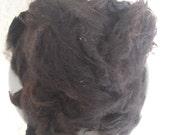 "Washed undyed alpaca fleece ""Black Knight"" 100g (approx 3 1/2 oz)"