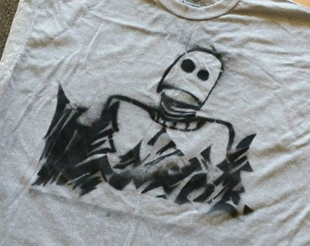 The Iron Giant custom spraypainted stencil T-shirt