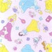 gz017 - 1 Yard Cotton Woven Fabric - Cartoon Characters, Princess, Belle, Cinderella, Aurora, Snow White - Baby Pink (W105)