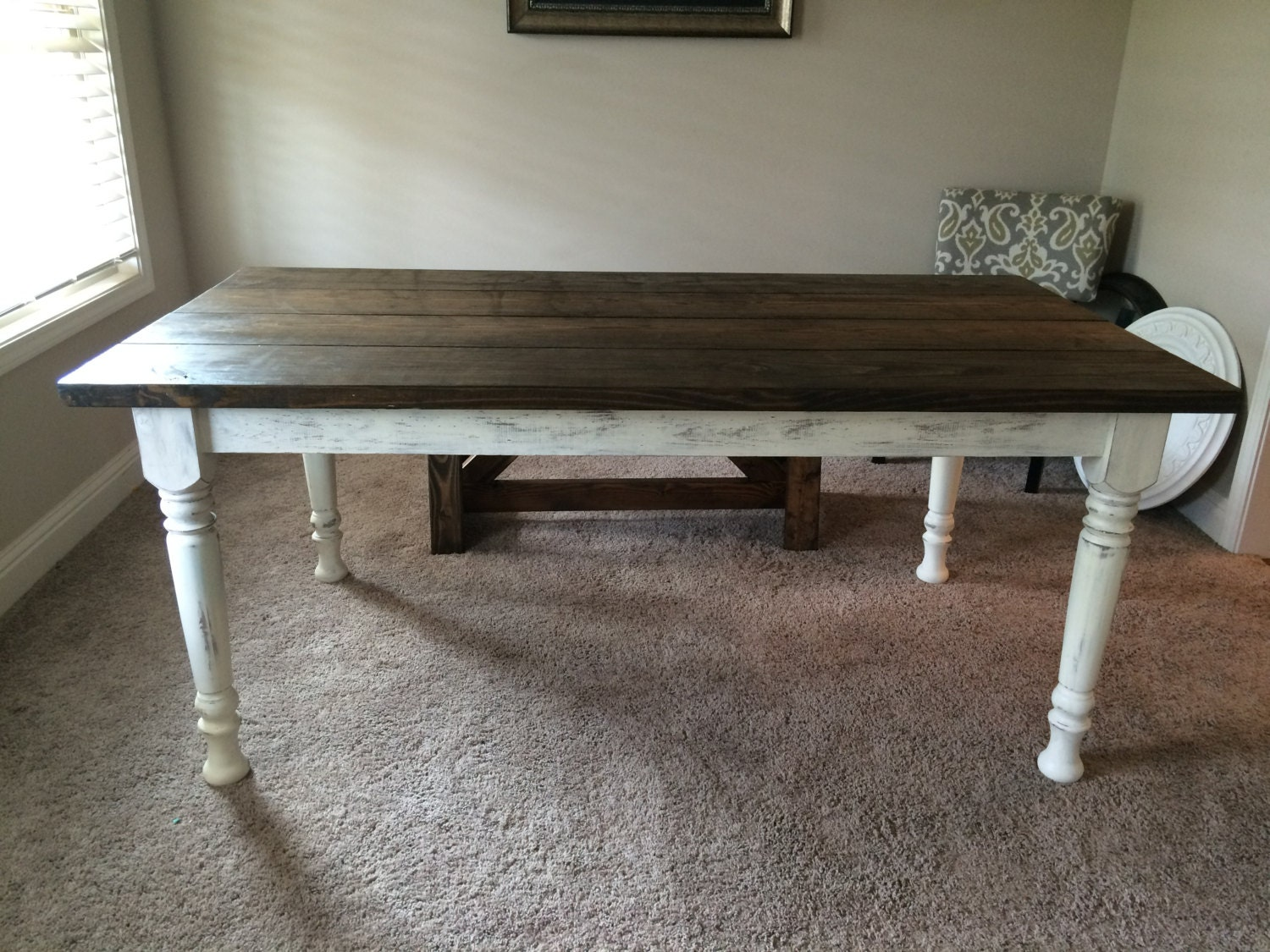 Turned Leg Farmhouse Table Farm Table And By Boardmancowoodworks