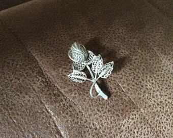 Filagree Sterling SilverThistle Brooch give as a Thank you Gift.