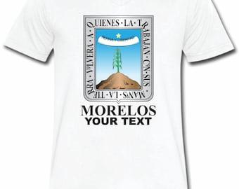 Morelos Mexico T-shirt V-Neck Tee Vapor Apparel with a FREE custom text(optional)