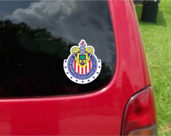 2 Pieces Chivas Guadalajara Futbol Mexico  Decals Stickers Full Color/Weather Proof. U.S.A Free Shipping