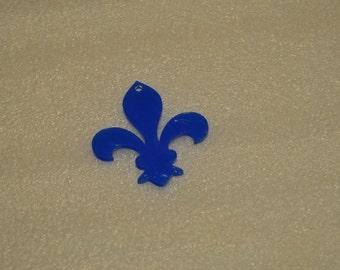 5 clear acrylic FLEUR-DE-LIS key chain blanks