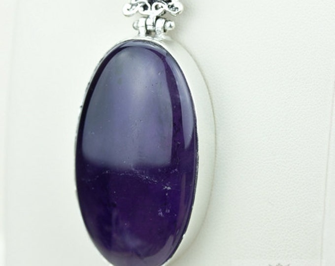 Amethyst 925 S0LID Sterling Silver Pendant + 4MM Snake Chain & Free Worldwide Shipping p3664