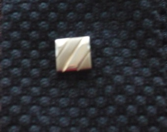 1960's Two Tone Gold Coloured Tie Tack/Pin