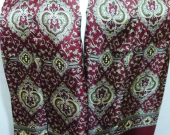 Burgundy Paisley 1960s Scalf by Peter England