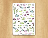 Watercolor Stickers for Springtime and Perfectly Fitting the May Colors in Vertical Erin Condren Life Planners