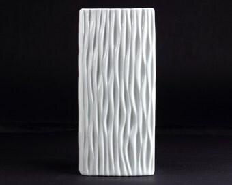 Vintage white porcelain vase by Gerold Bavaria - Mid Century German Porcelain from the 70s